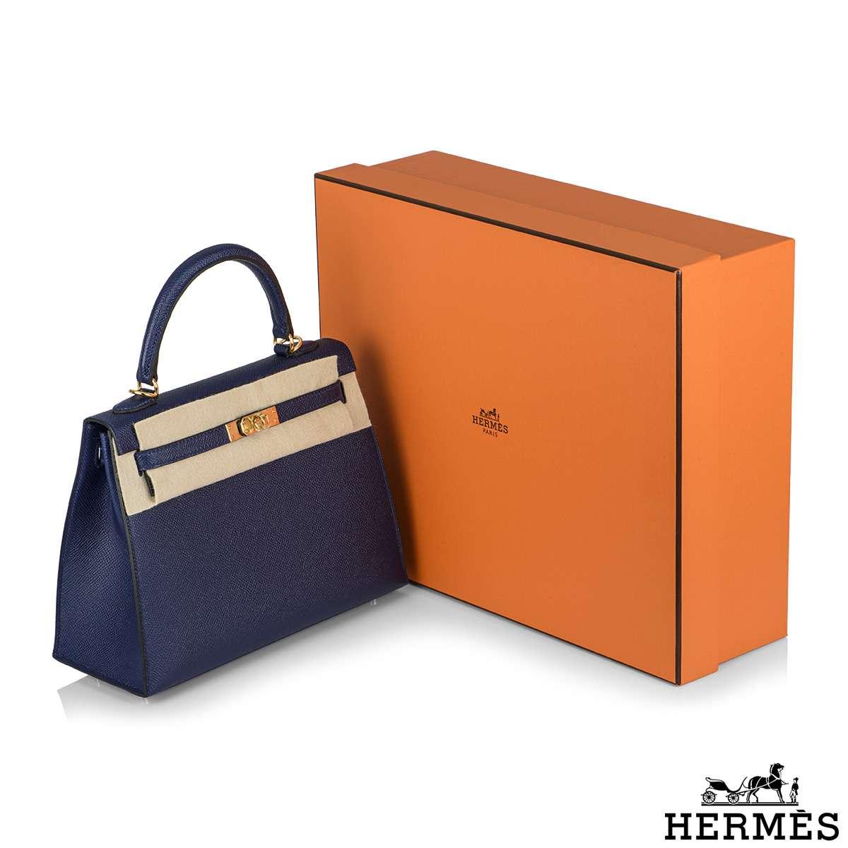 Hermès  Kelly II Sellier 25cm Epsom Bleu Saphir GHW